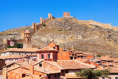 Albarracin with ancient fortress wall Royalty Free Stock Images