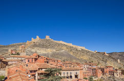 Albarracin city and the surrounding walls Royalty Free Stock Photo