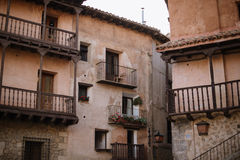 Albarracin i Teruel, Spanien arkivbilder