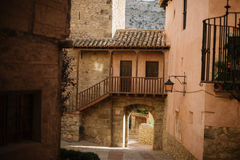 Albarracin i Teruel, Spanien royaltyfria foton
