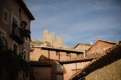 Albarracin i Teruel, Spanien royaltyfria bilder