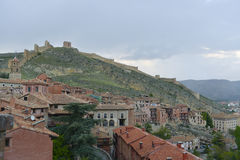 Albarracin medieval town with city wall Stock Image