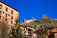 Albarracin medieval town Teruel Spain Stock Images