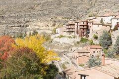 Albarracin miasteczko w jesieni Fotografia Royalty Free