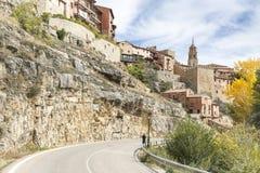 Albarracin miasteczko w jesieni Obraz Royalty Free