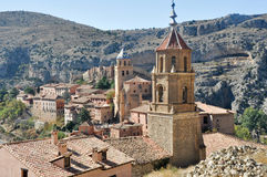 Albarracin, middeleeuwse stad van Spanje Royalty-vrije Stock Afbeelding