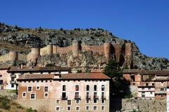 Albarracin (Teruel) Aragon Province - Spain. Population and walls of Albarracin - Albarracin (Teruel) - Spain Stock Photography