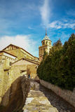Albarracin Teruel, Aragon, Spanien Royaltyfria Bilder