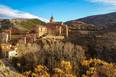 Albarracin Teruel, Aragon, Spanien Arkivfoto