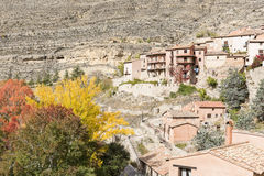 Albarracin town in Autumn Royalty Free Stock Photography