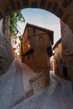 Albarracin, Typical building Stock Photography