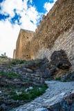 Albarracin wall, Spain. Stock Images