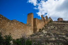 Albarracin wall, Spain. Royalty Free Stock Image