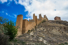 Albarracin wall, Spain. Royalty Free Stock Photography