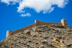 Albarracin wall, Spain. Stock Photos