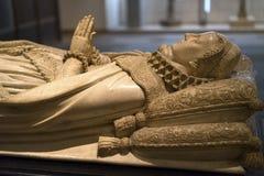 Albasten beeltenis van middeleeuwse dame Royalty-vrije Stock Fotografie