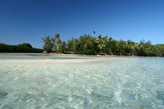 Albasten strand in Fiji Royalty-vrije Stock Afbeeldingen