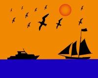 Albatros del barco de navegación Foto de archivo libre de regalías