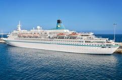 Albatros passanger cruise ship in Lanzarote harbor on November 9, 2015 Royalty Free Stock Images