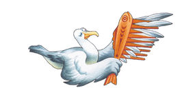 Albatross. The albatross has the considerable quantity wing-feathers Royalty Free Stock Image