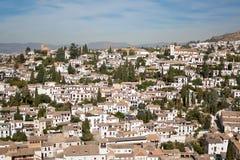 albaycin Granada ćwiartka Zdjęcia Stock