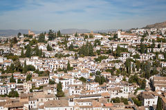 Albaycin Quarter in Granada Stock Photos
