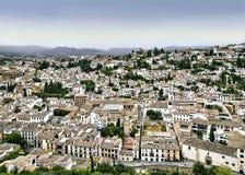 Albaycin. View of the Albaycin quarter, Granada, Spain Stock Photography