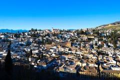 albayzÃn Alhambra, Granada, Hiszpania Obraz Royalty Free