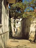 Albayzin-格拉纳达西班牙典型的街道  免版税库存图片