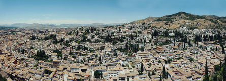 Albayzin neighborhood  in Granada, Spain Royalty Free Stock Photos