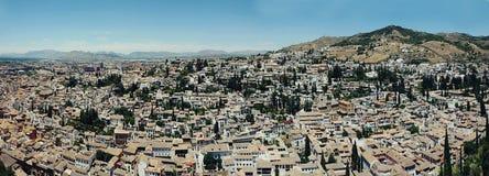 Albayzin neighborhood  in Granada, Spain Royalty Free Stock Photos