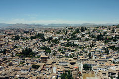 Albayzin neighborhood  in Granada, Spain Royalty Free Stock Image