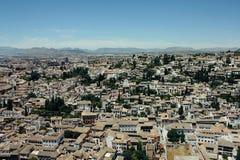 Albayzin neighborhood  in Granada, Spain Royalty Free Stock Image