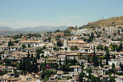 Albayzin neighborhood  in Granada, Spain Royalty Free Stock Photo