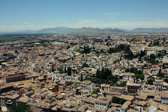Albayzin neighborhood  in Granada, Spain Stock Image