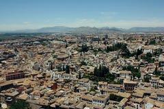 Albayzin neighborhood  in Granada, Spain Stock Image