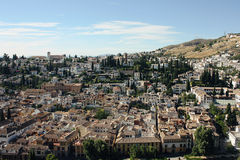 Albayzin neighborhood  in Granada, Spain Stock Photo