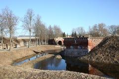 Albe della fortezza di Daugavpils Fotografie Stock Libere da Diritti