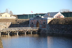 Albe della fortezza di Daugavpils Fotografia Stock