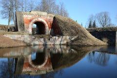 Albe della fortezza di Daugavpils Fotografia Stock Libera da Diritti
