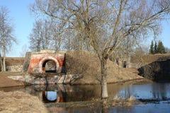 Albe della fortezza di Daugavpils Immagine Stock Libera da Diritti