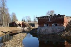 Albe della fortezza di Daugavpils Immagini Stock Libere da Diritti