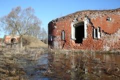 Albe della fortezza di Daugavpils Immagini Stock