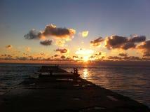 Albeggia in mare, il ` s una bella vista Fotografia Stock Libera da Diritti