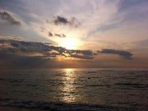 Albeggia in mare, il ` s una bella vista Immagine Stock Libera da Diritti