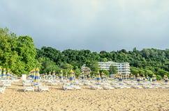 ALBENA, ΒΟΥΛΓΑΡΊΑ - 15 ΙΟΥΝΊΟΥ 2017: Ξενοδοχείο παραλιών της Arabella κοντά Στοκ Εικόνες