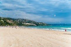 Albena Beach - Bulgarien Royaltyfria Bilder