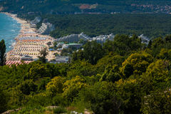 Albena. Beach, together with the surrounding forest Stock Image