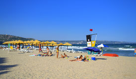 Albena resort beach,Bulgaria Royalty Free Stock Image
