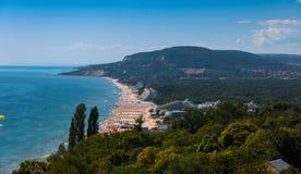 Albena. Sea resort Albena, on the Black Sea, showing high Royalty Free Stock Photo